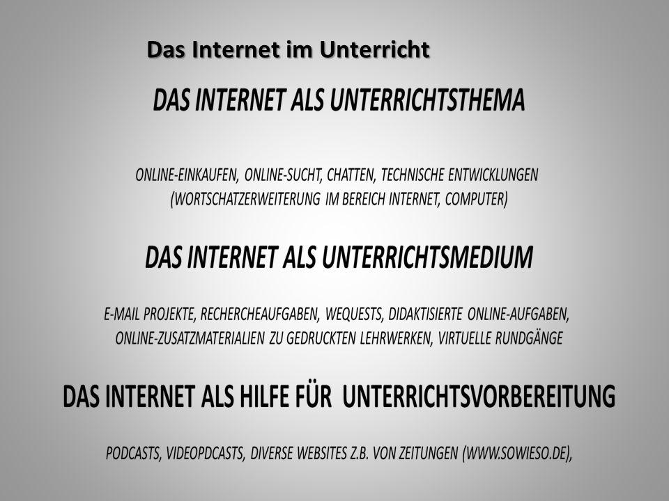 Das Internet im Unterricht