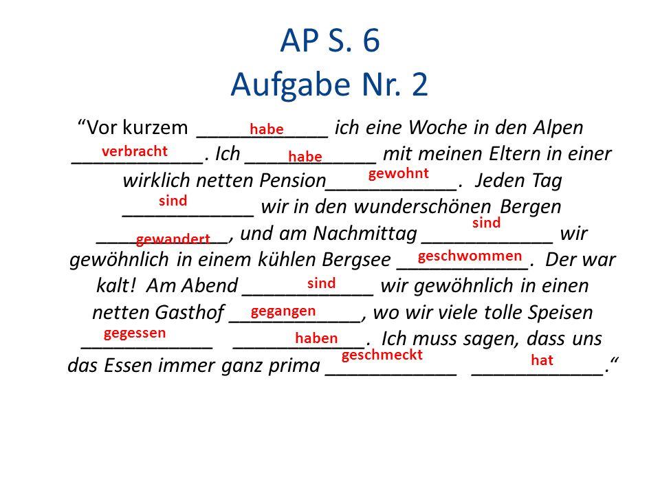 AP S. 6 Aufgabe Nr. 2