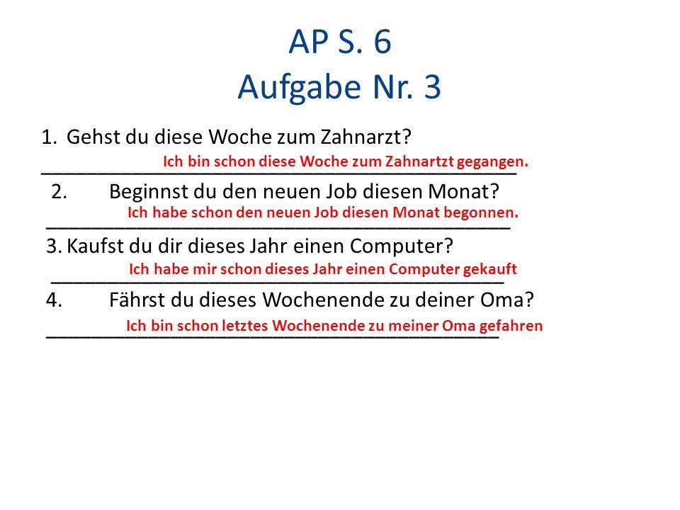 AP S. 6 Aufgabe Nr. 3