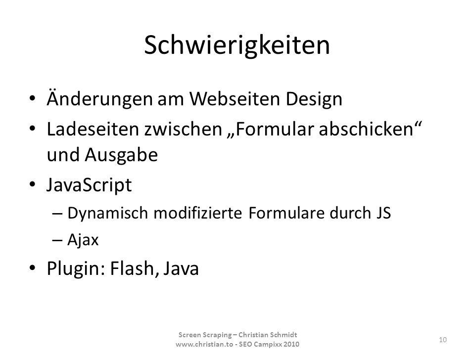 Schwierigkeiten Änderungen am Webseiten Design