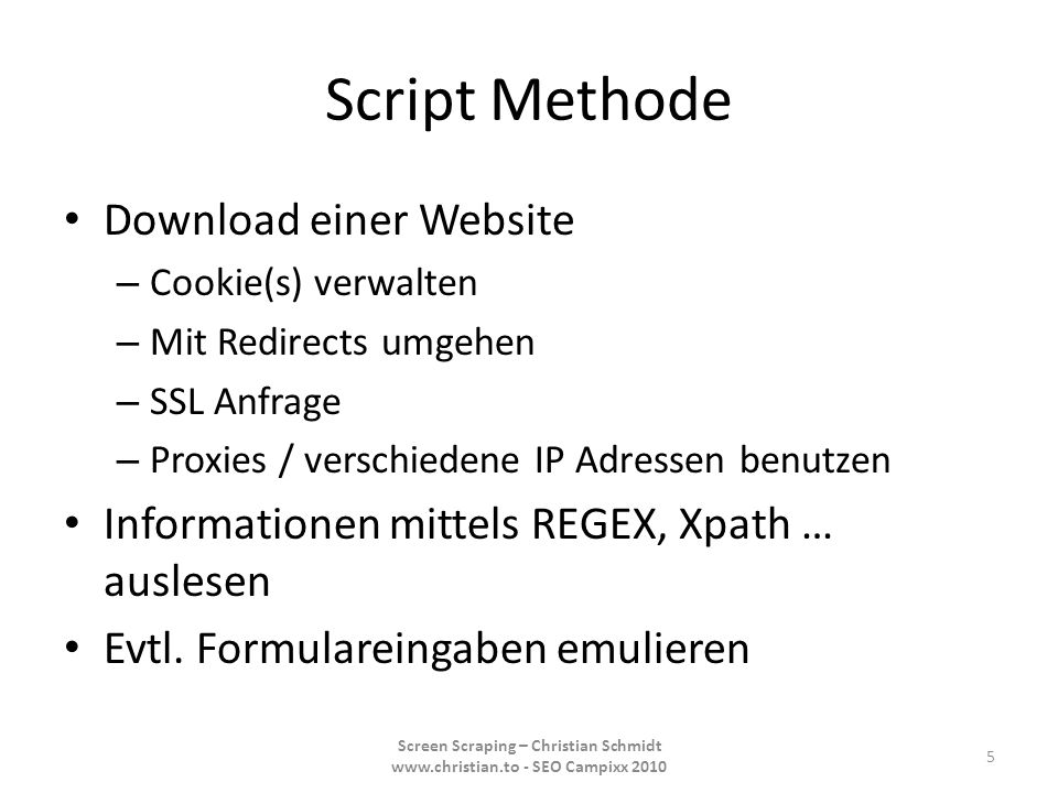 Script Methode Download einer Website