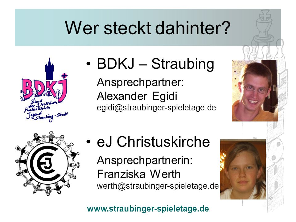 Wer steckt dahinter BDKJ – Straubing eJ Christuskirche