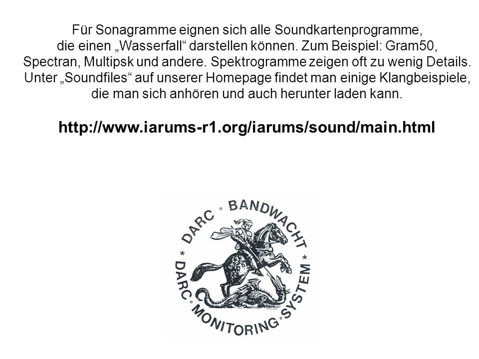 Für Sonagramme eignen sich alle Soundkartenprogramme,