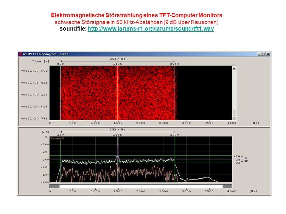 Elektromagnetische Störstrahlung eines TFT-Computer Monitors