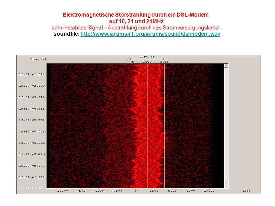 Elektromagnetische Störstrahlung durch ein DSL-Modem
