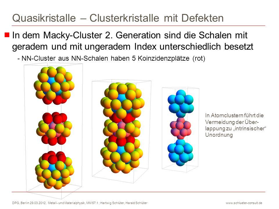 Quasikristalle – Clusterkristalle mit Defekten