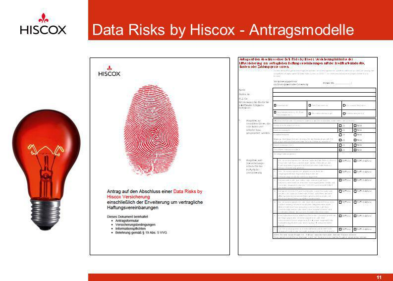 Data Risks by Hiscox - Antragsmodelle