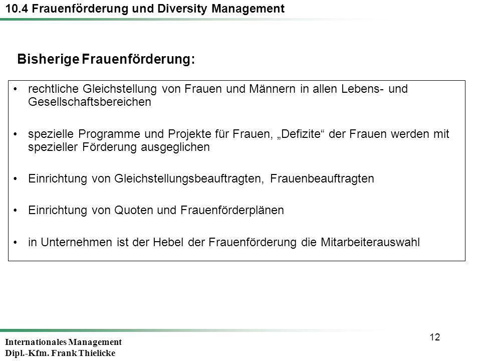 10.4 Frauenförderung und Diversity Management