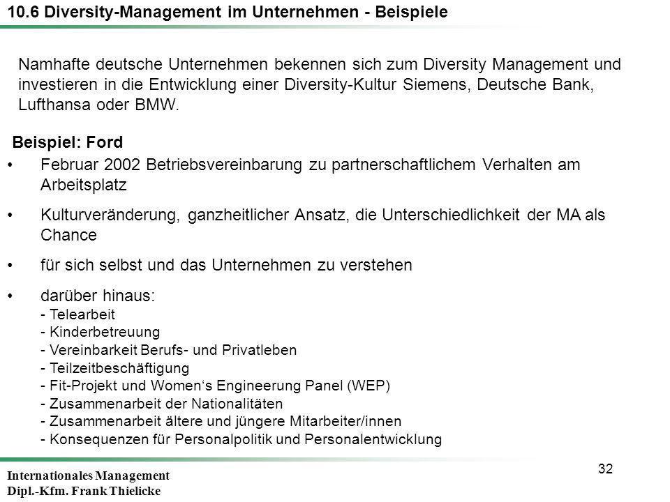 10.6 Diversity-Management im Unternehmen - Beispiele