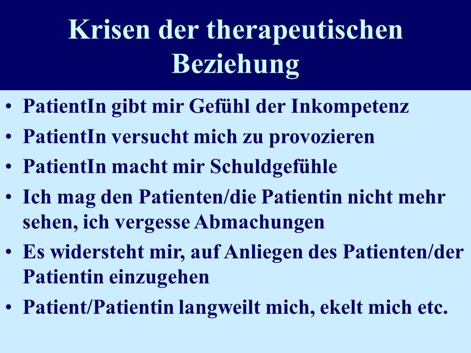 Krisen der therapeutischen Beziehung