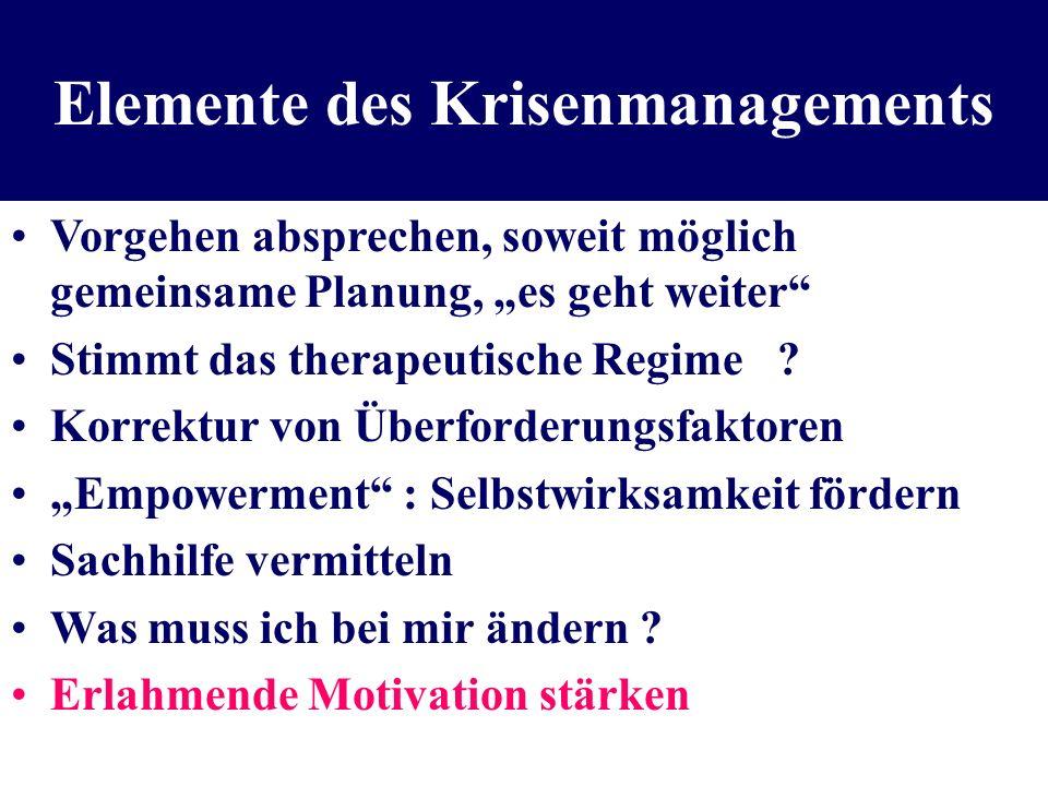 Elemente des Krisenmanagements