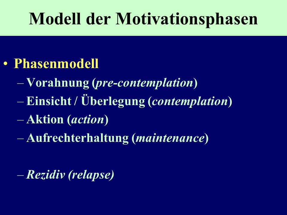 Modell der Motivationsphasen