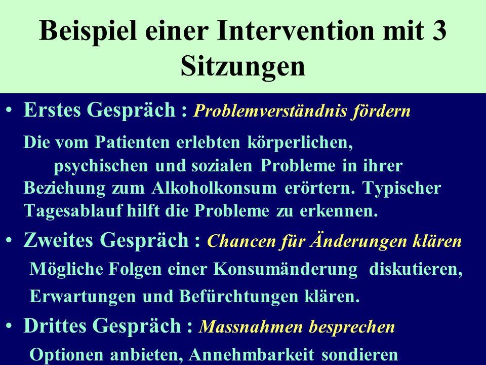 Beispiel einer Intervention mit 3 Sitzungen