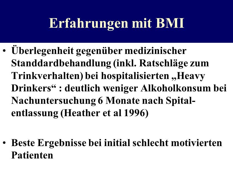 Erfahrungen mit BMI