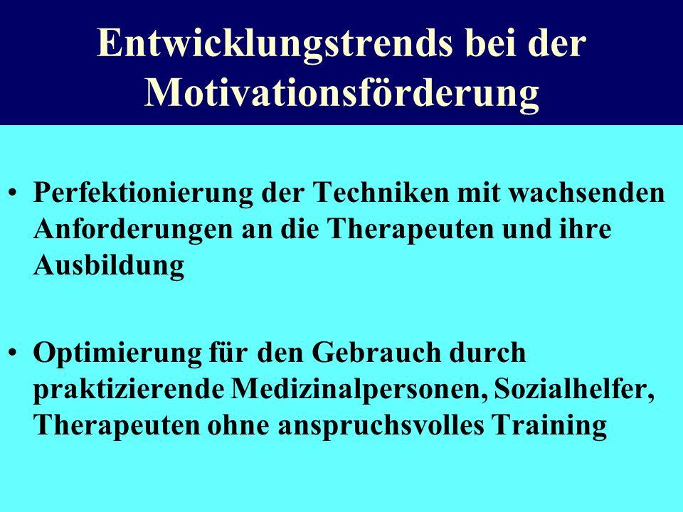 Entwicklungstrends bei der Motivationsförderung