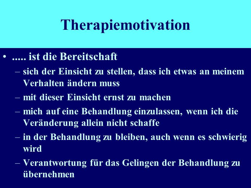 Therapiemotivation ..... ist die Bereitschaft