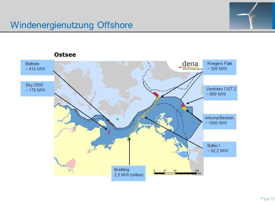 Windenergienutzung Offshore