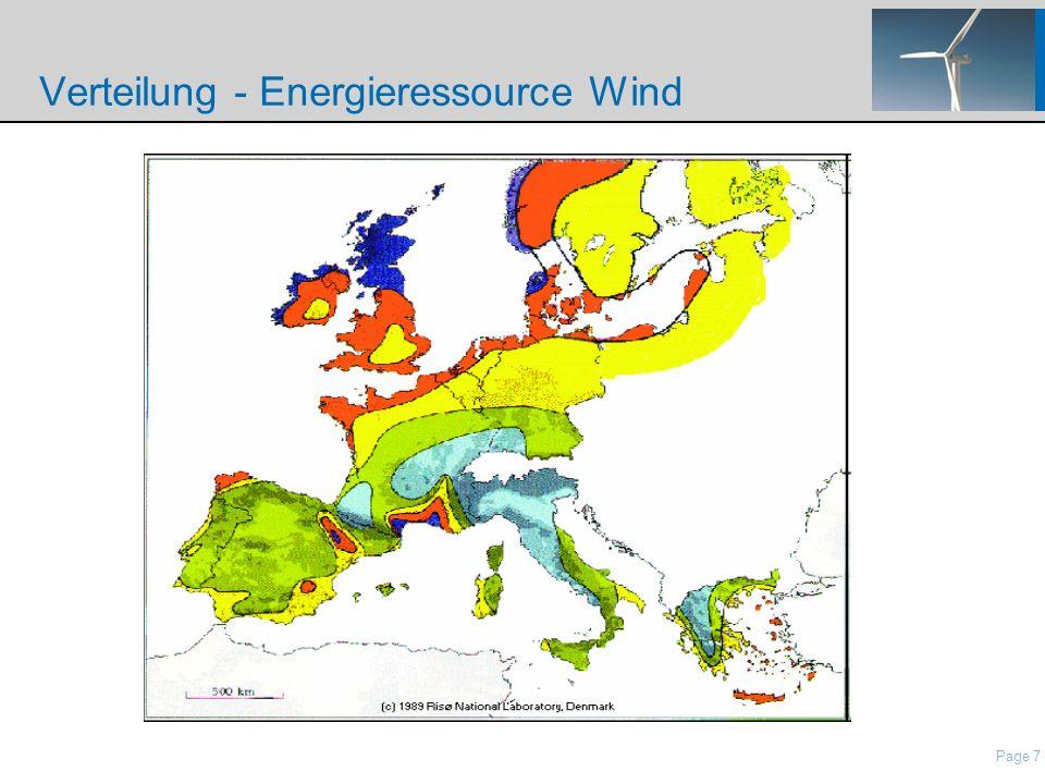 Verteilung - Energieressource Wind