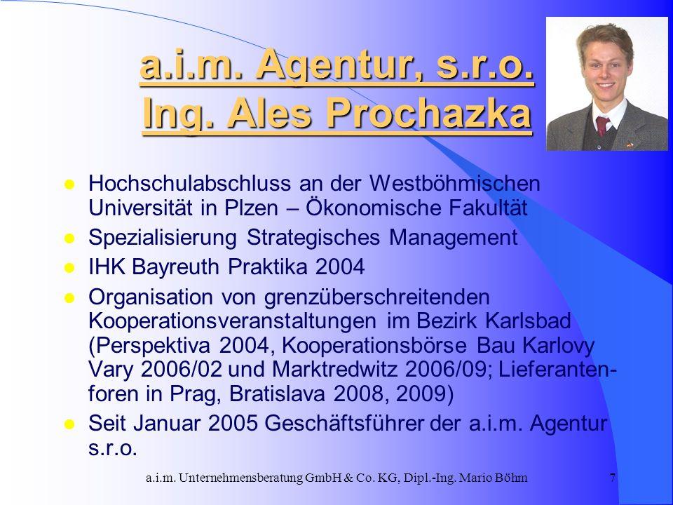 a.i.m. Agentur, s.r.o. Ing. Ales Prochazka
