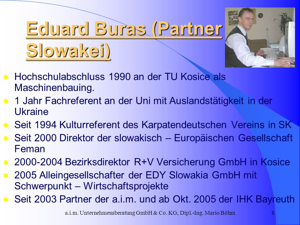 Eduard Buras (Partner Slowakei)