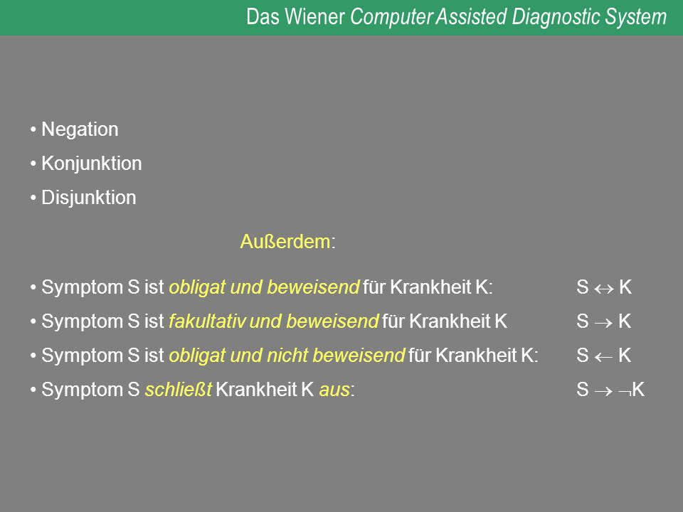Das Wiener Computer Assisted Diagnostic System