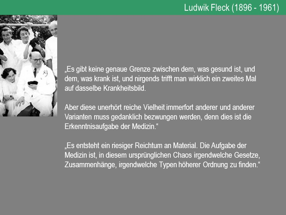 Ludwik Fleck (1896 - 1961)