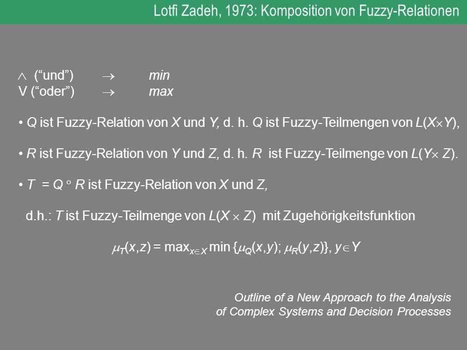 T(x,z) = maxxX min {Q(x,y); R(y,z)}, yY