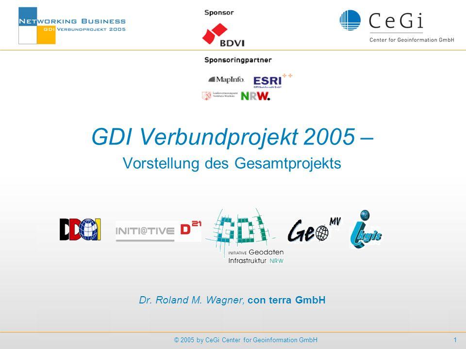 GDI Verbundprojekt 2005 – Vorstellung des Gesamtprojekts