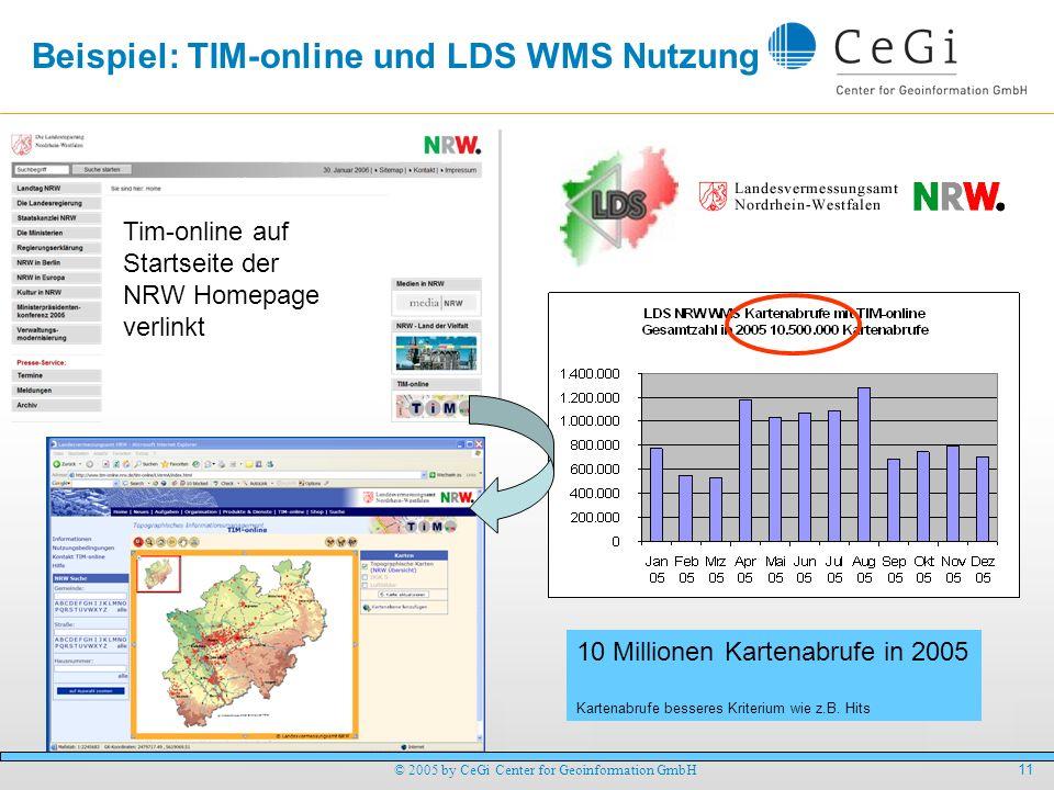 Beispiel: TIM-online und LDS WMS Nutzung