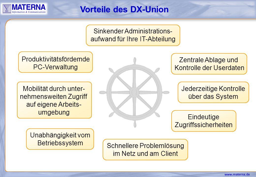 Vorteile des DX-Union Sinkender Administrations-