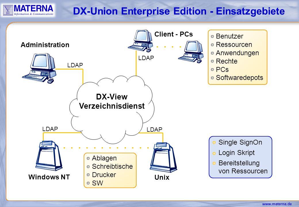 DX-Union Enterprise Edition - Einsatzgebiete
