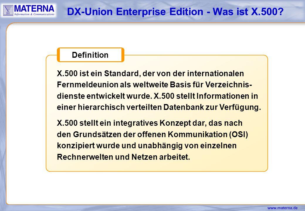 DX-Union Enterprise Edition - Was ist X.500