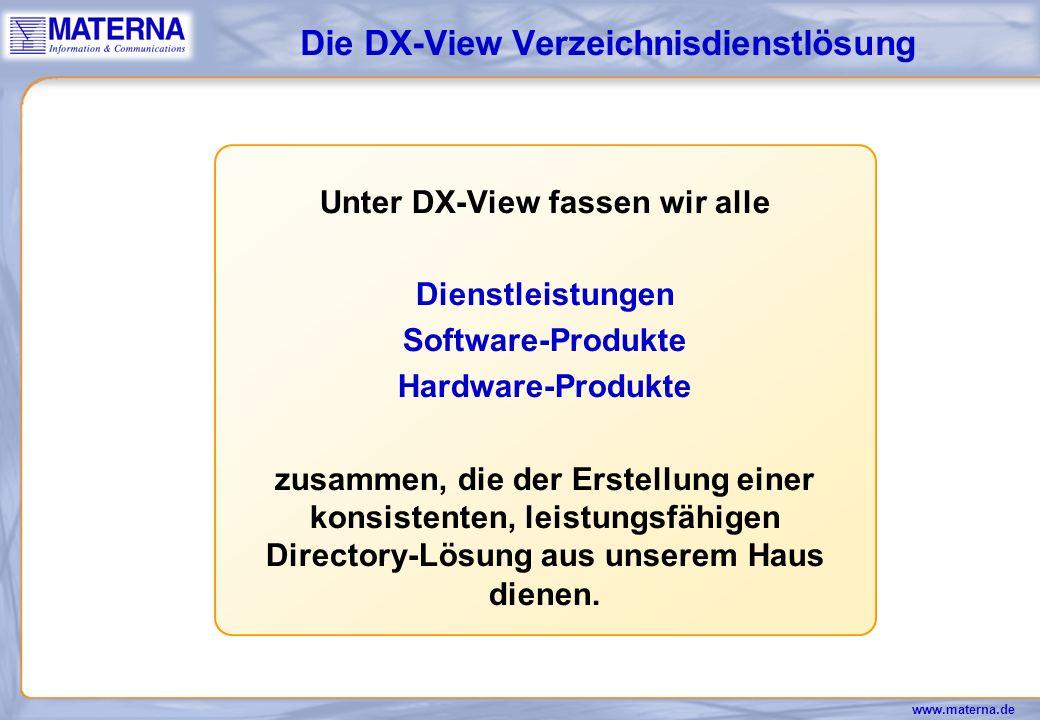 Die DX-View Verzeichnisdienstlösung