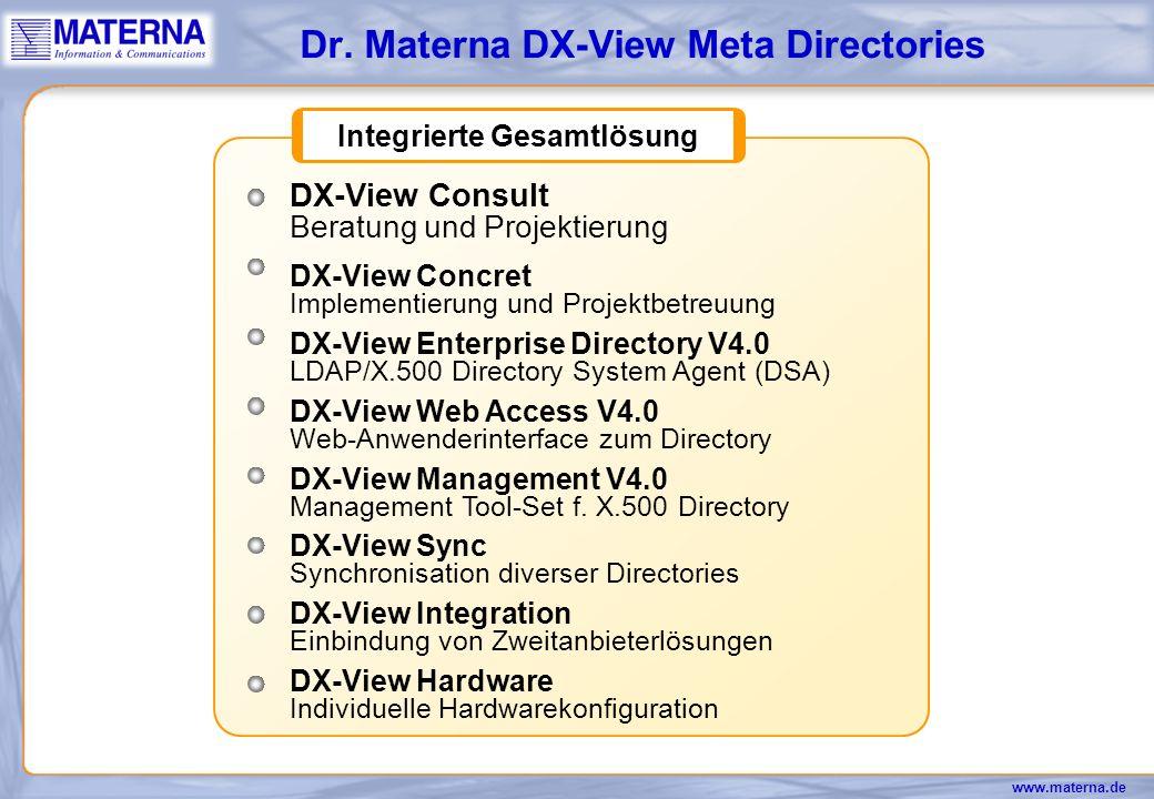 Dr. Materna DX-View Meta Directories