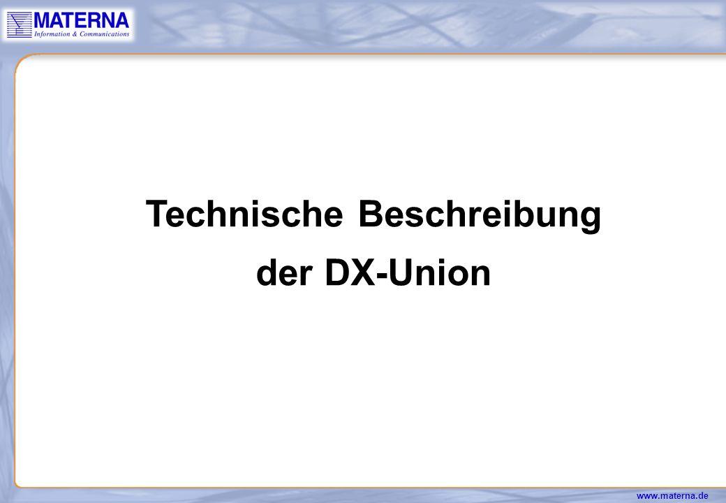 Technische Beschreibung der DX-Union