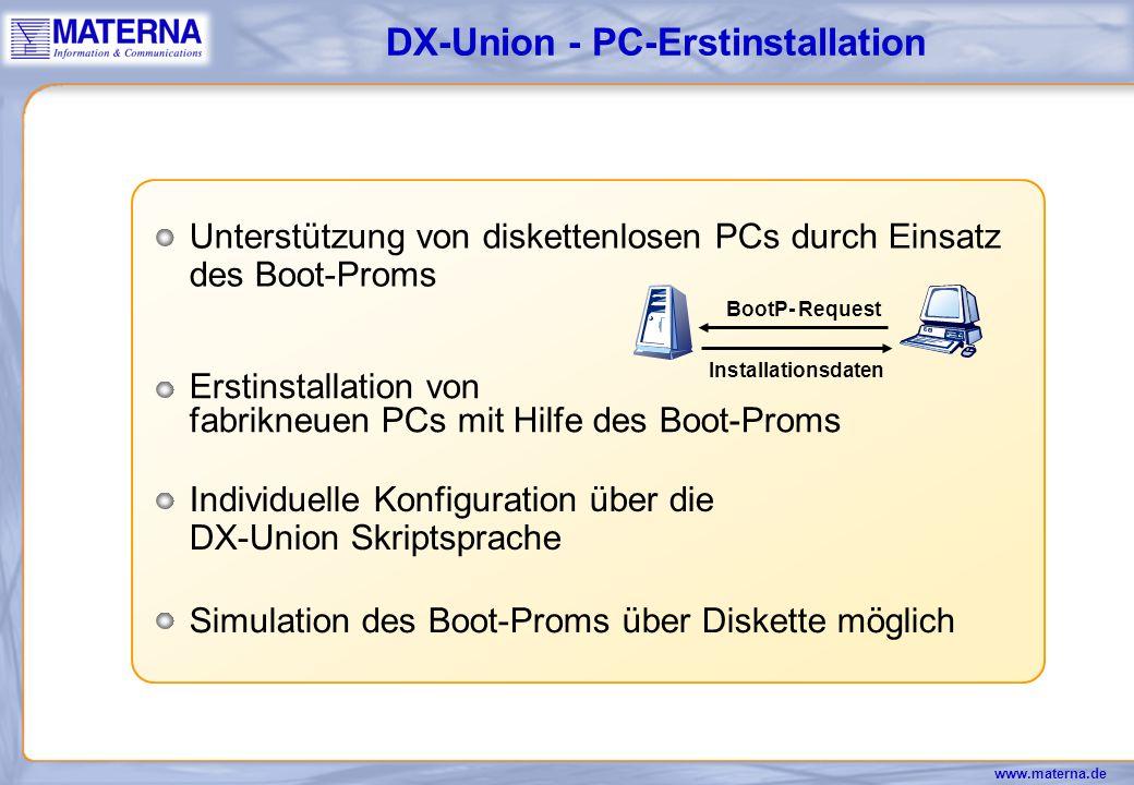 DX-Union - PC-Erstinstallation