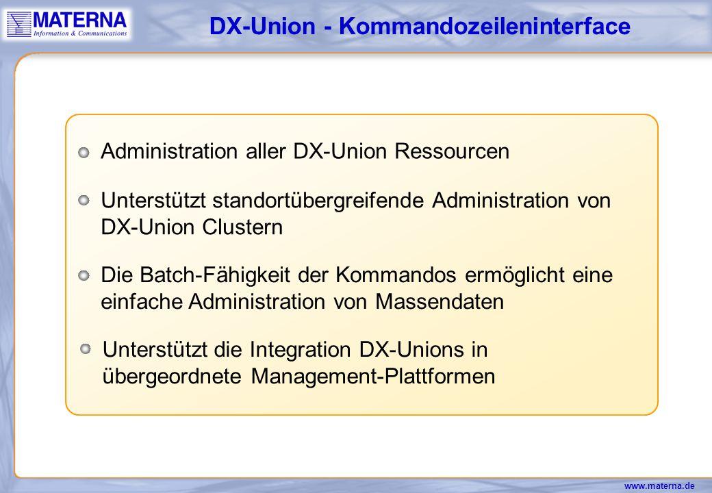 DX-Union - Kommandozeileninterface