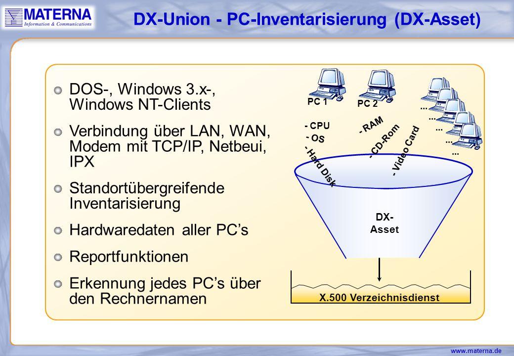 DX-Union - PC-Inventarisierung (DX-Asset)