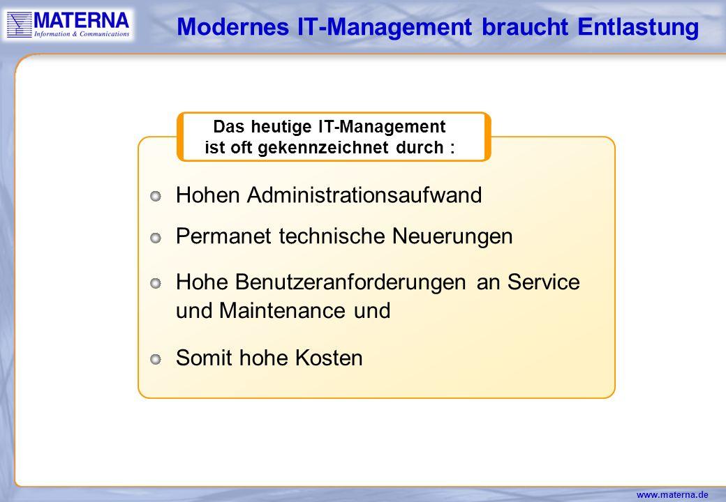 Modernes IT-Management braucht Entlastung