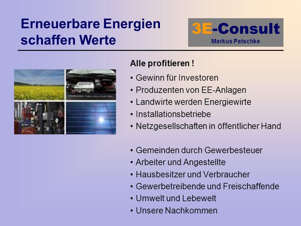 Erneuerbare Energien schaffen Werte