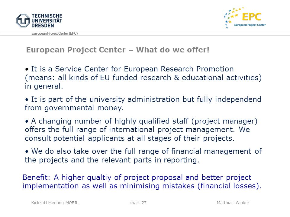 European Project Center – What do we offer!