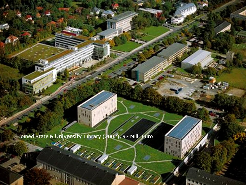 Joined State & University Library (2002), 97 Mill. Euro