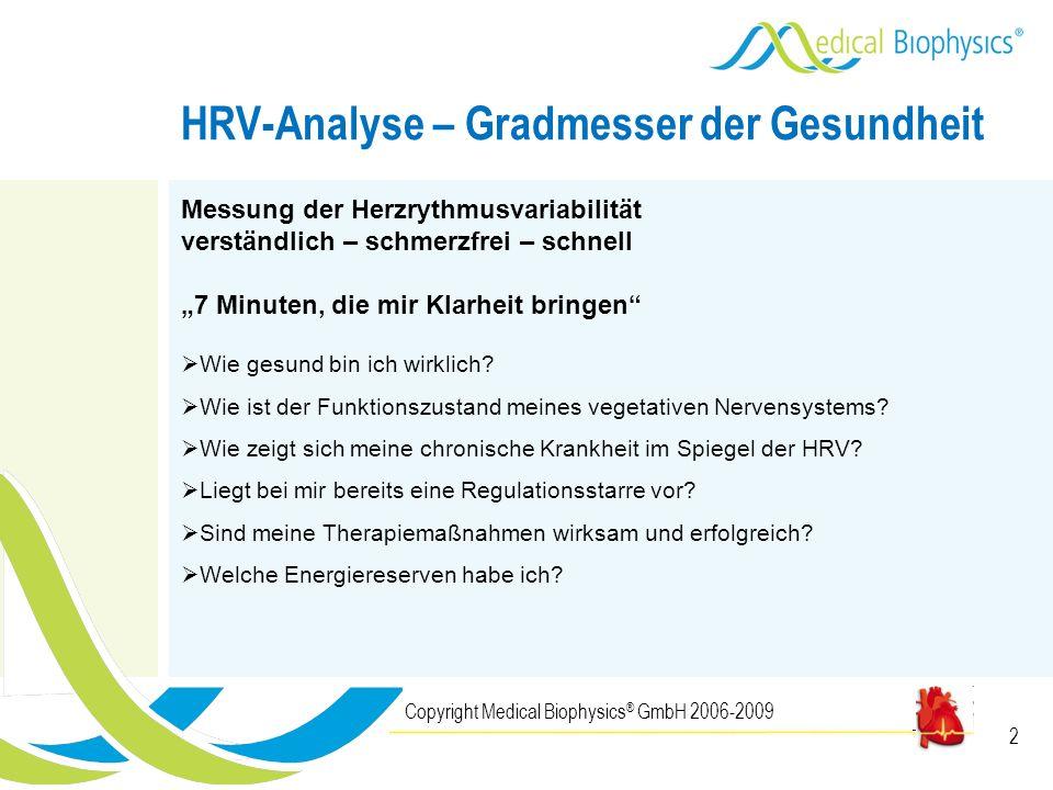 HRV-Analyse – Gradmesser der Gesundheit
