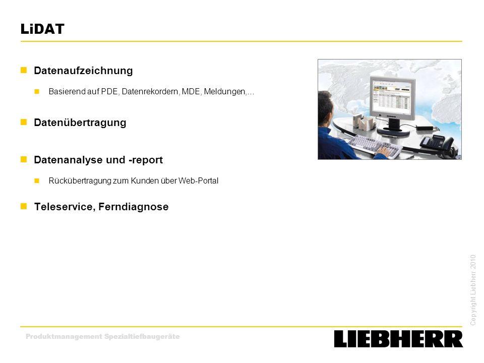 LiDAT Datenaufzeichnung Datenübertragung Datenanalyse und -report