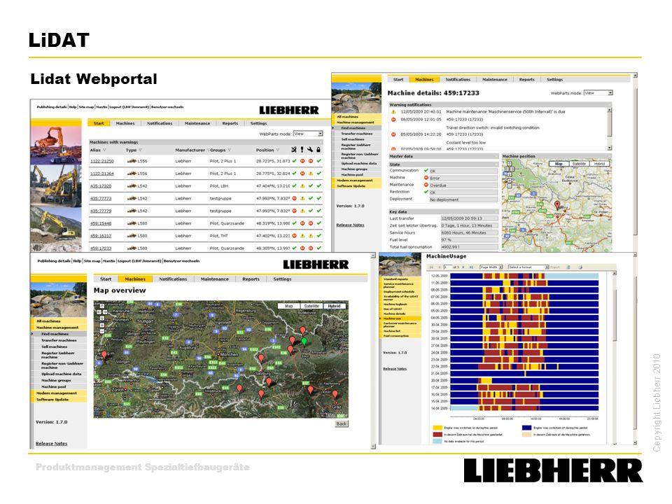 LiDAT Lidat Webportal Produktmanagement Spezialtiefbaugeräte