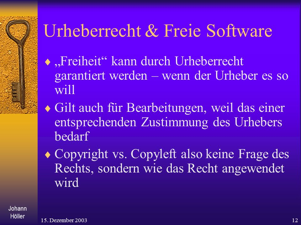 Urheberrecht & Freie Software