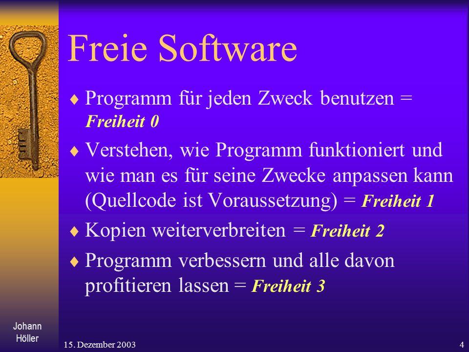 Freie Software Programm für jeden Zweck benutzen = Freiheit 0