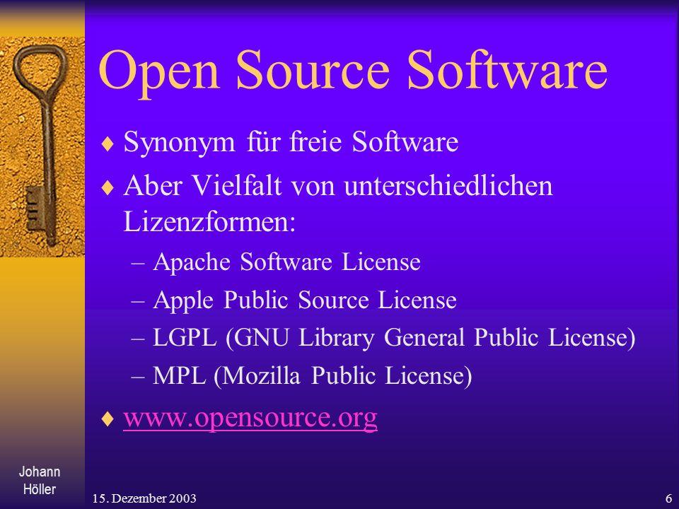 Open Source Software Synonym für freie Software