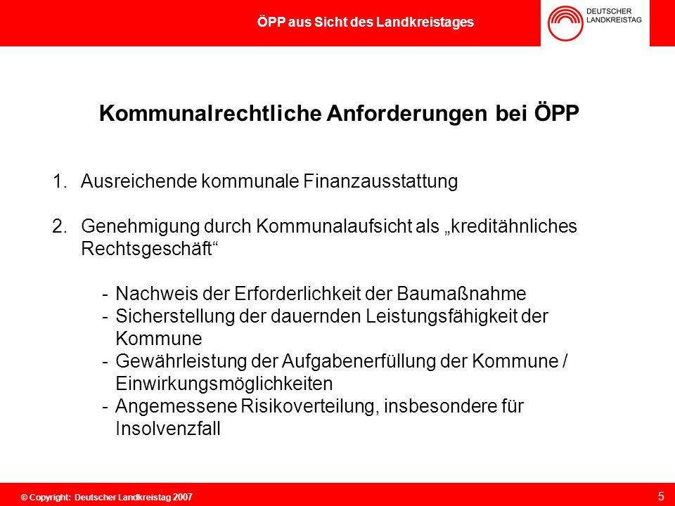 Kommunalrechtliche Anforderungen bei ÖPP