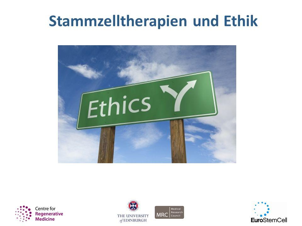 Stammzelltherapien und Ethik